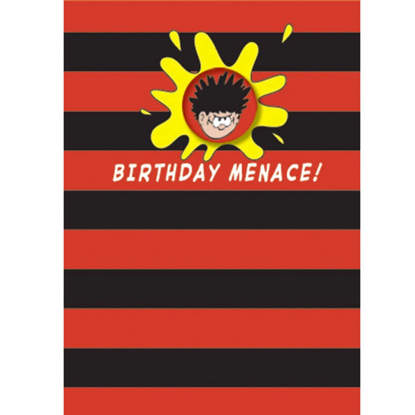 Dennis the Menace Birthday Menace Card with Badge