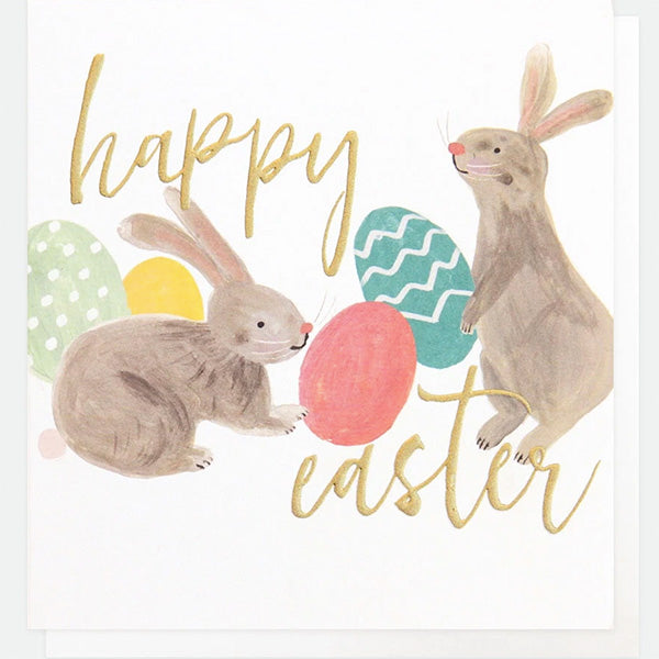 Happy Easter Rabbits Easter Card