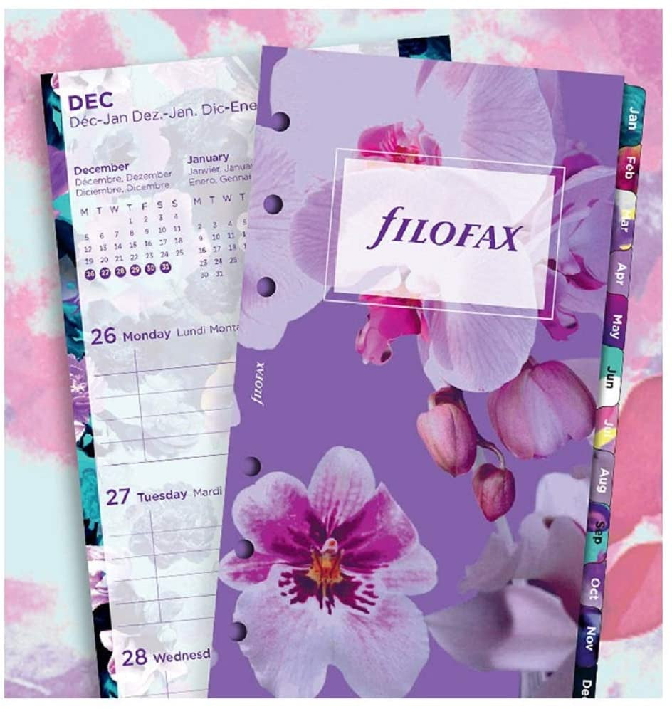 Filofax 2021 Personal Week to view Floral Refill