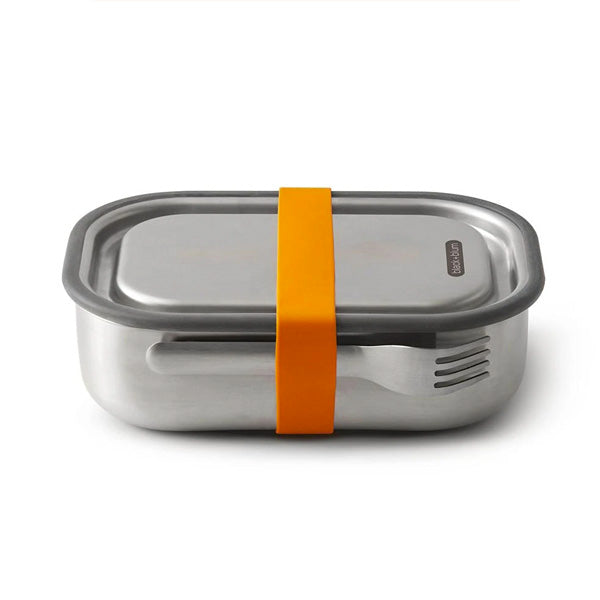 Stainless Steel & Orange Lunch Box Large