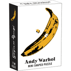Andy Warhol Mini Shaped Puzzle Banana