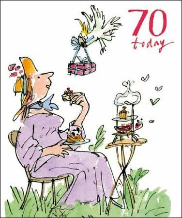 70 Today Quentin Blake Birthday Card for her