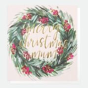 Merry Christmas Mum Wreath Card