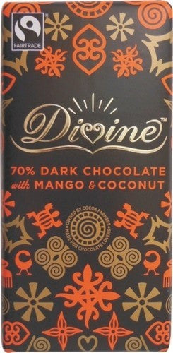 Divine Mango and Coconut Dark Chocolate