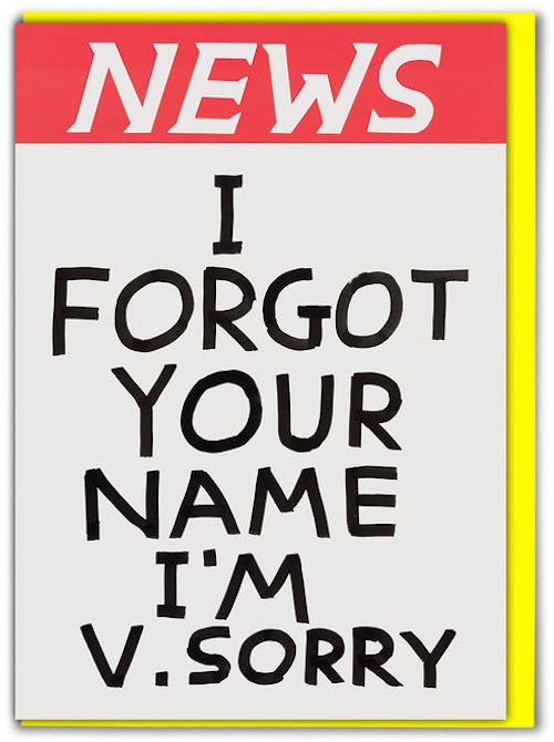 News Forgot Your Name