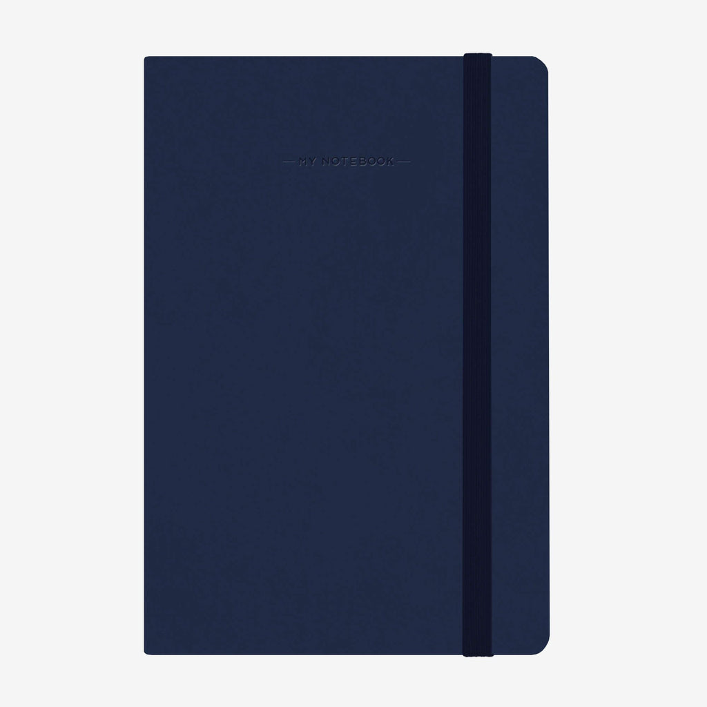 Medium Plain Navy Blue Notebook