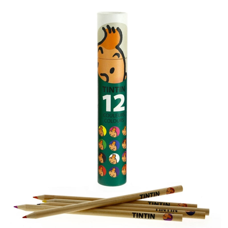 Tintin - 12 Colour Pencils Green box