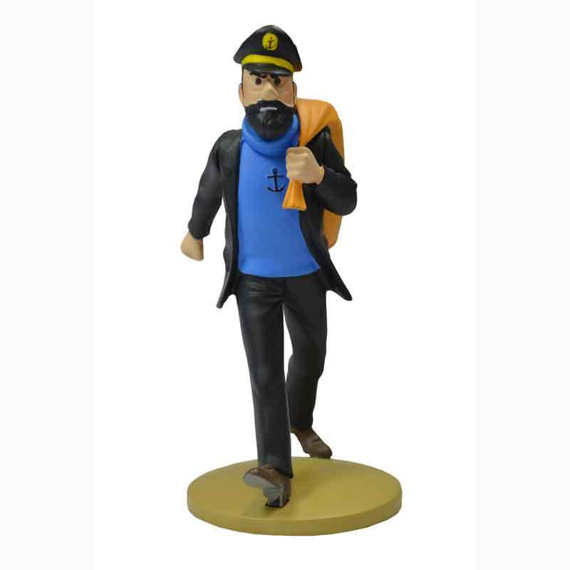 Tintin Figure Haddock With Duffle Bag 12cm