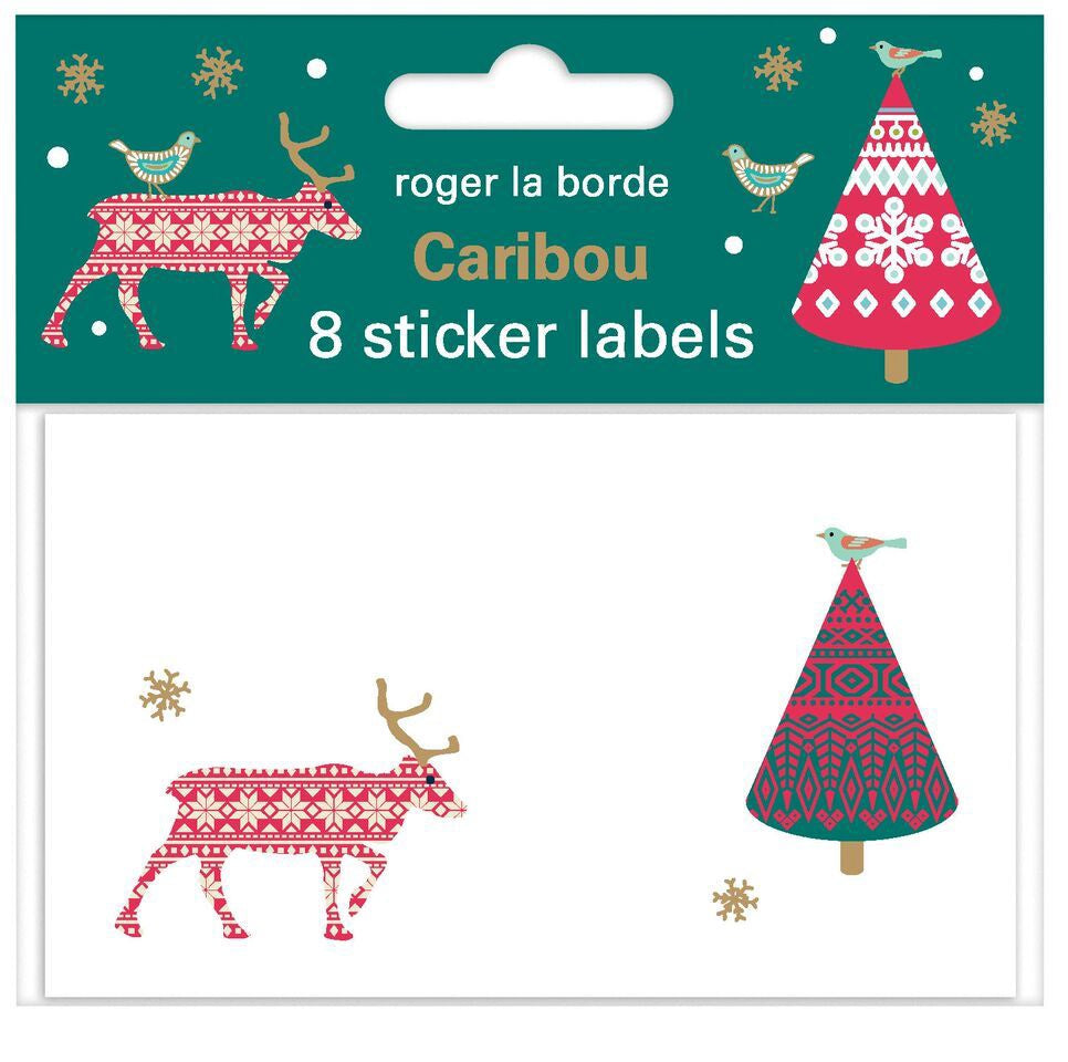 Caribou Sticker Labels