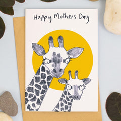 Happy Mother's Day Giraffe Card