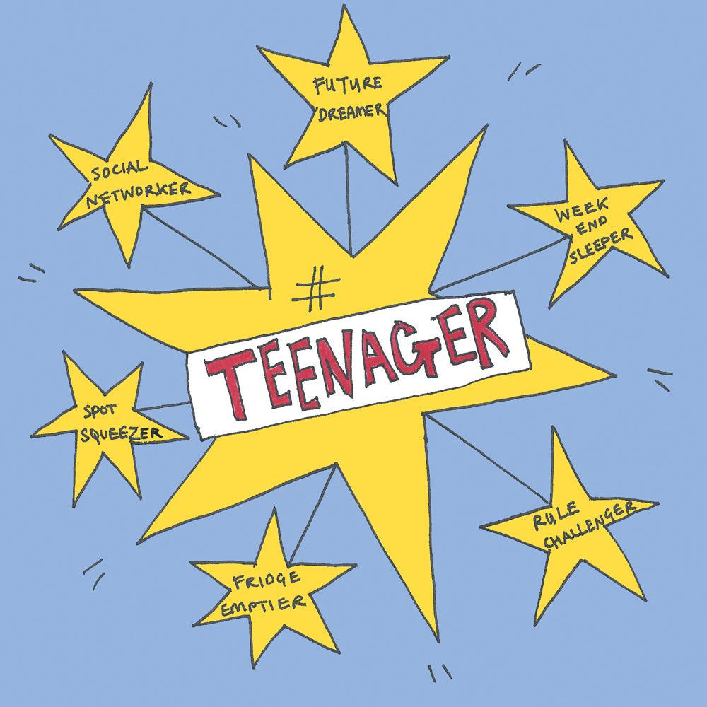 #Teenager Star Card