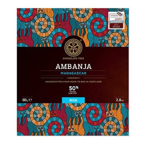 Bean to Bar Ambanja Madagascar Milk Chocolate 50% 80g