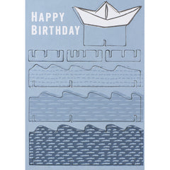 Happy Birthday Paper Boat 3D Card