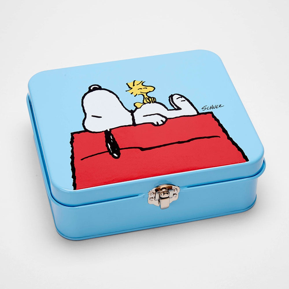 Snoopy and Woodstock Large Tin