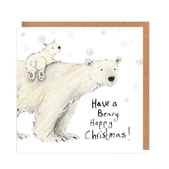 Claudette and Cecily Have a Beary Christmas Card by Catherine Rayner