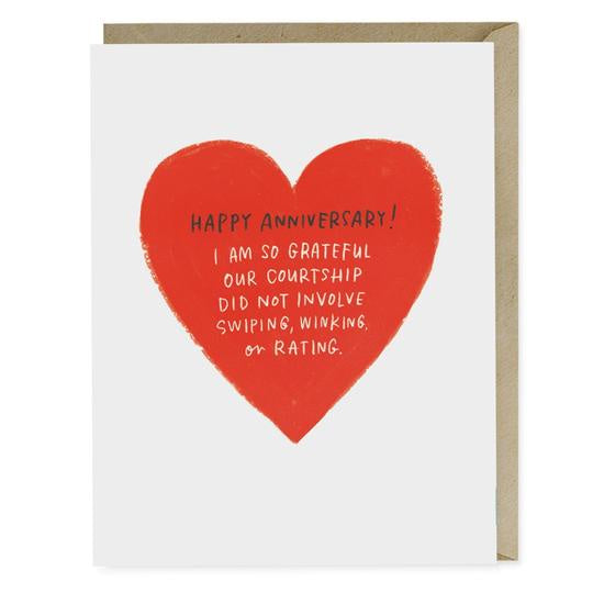Swiping, Winking or Rating Anniversary Card