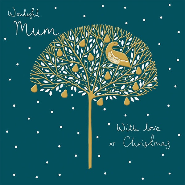 Partridge In A Golden Pear Tree Christmas Card