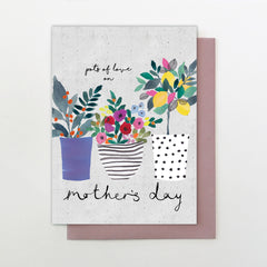 Pots of Love on Mother's Day Card