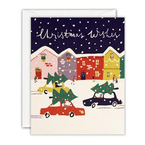 Christmas Wishes Cars Mini Pack of 5 Cards