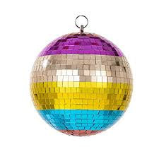 Boho Rainbow Disco Ball