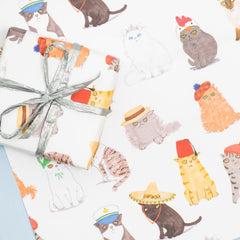 Cats In Hats Sheet Wrap