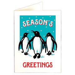 Season's Greetings Penguins Pack of 5 Cards