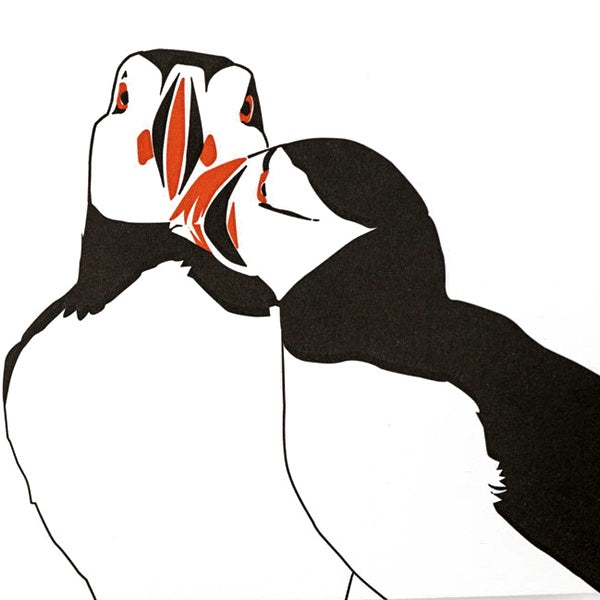 Puffin Letterpress Card