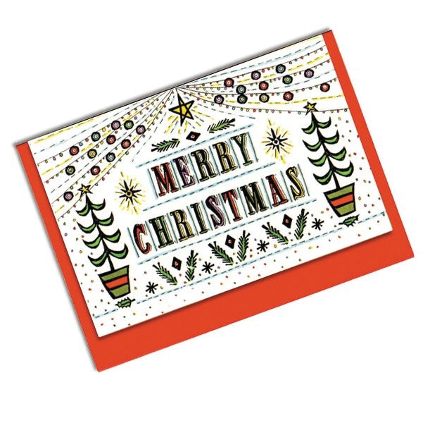 Trees Double Sided Christmas Card