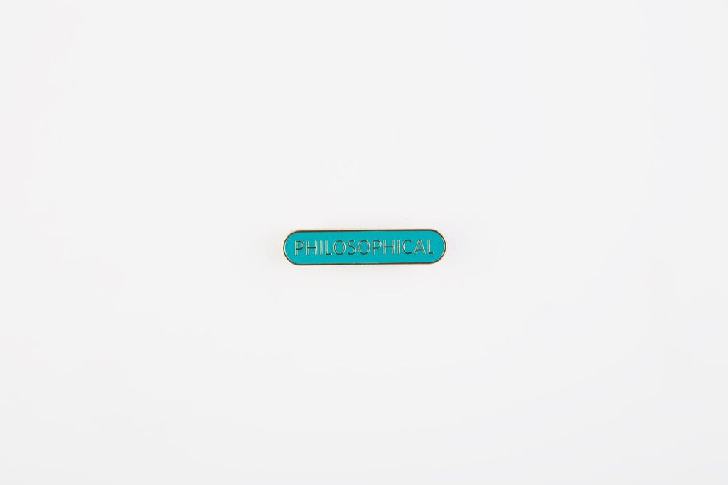 Philosophical Pin Badge