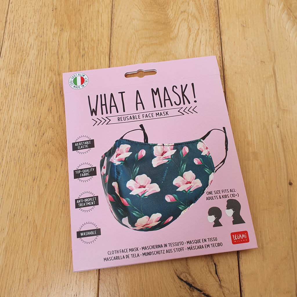 What A Mask! Reusable Face Mask - Floral Design