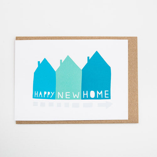 Happy New Home Houses Card