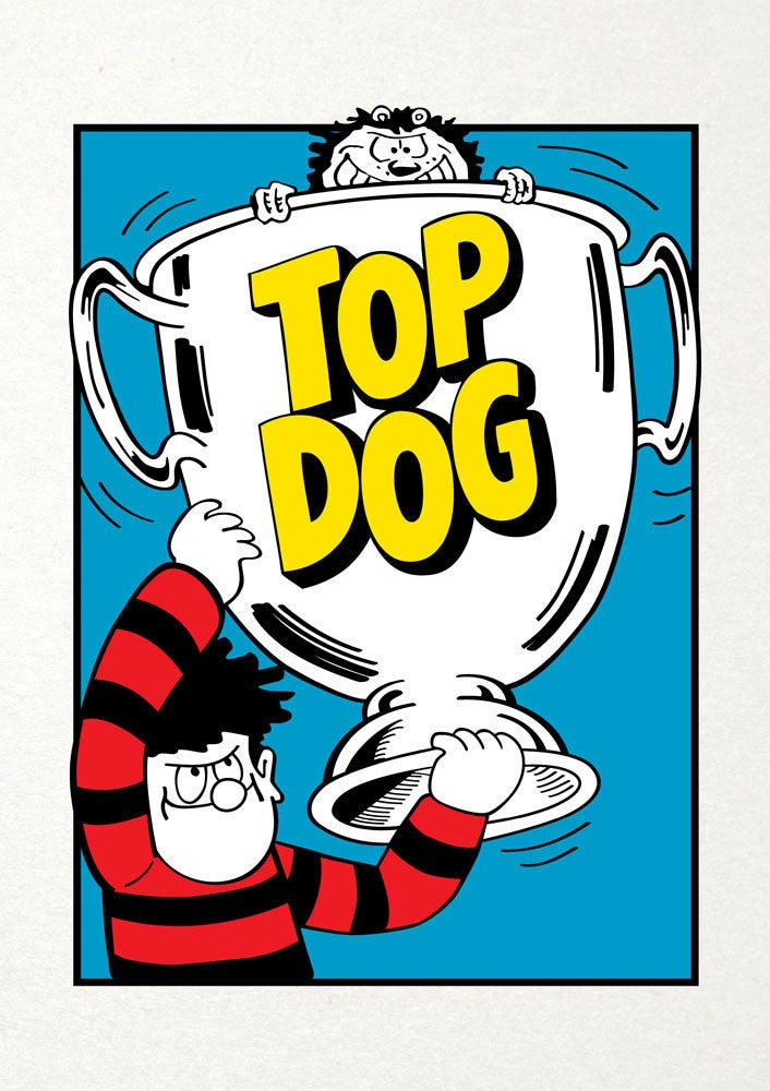 Top Dog Trophy Dennis the Menace Birthday Card