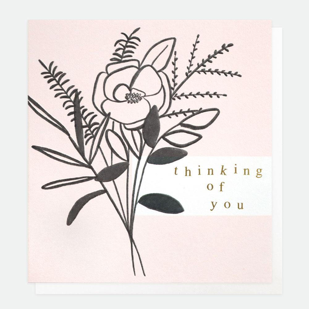 Bouquet Thinking of you Card