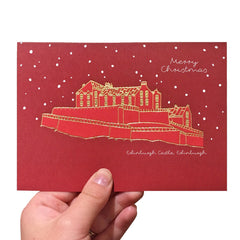 Christmas Edinburgh Castle Card