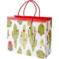 Merry Cactus Large Gift Bag