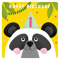 Age 1 Happy Birthday Panda Card
