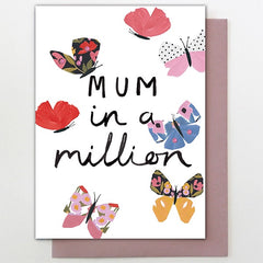 Mum In A Million Butterflies Card