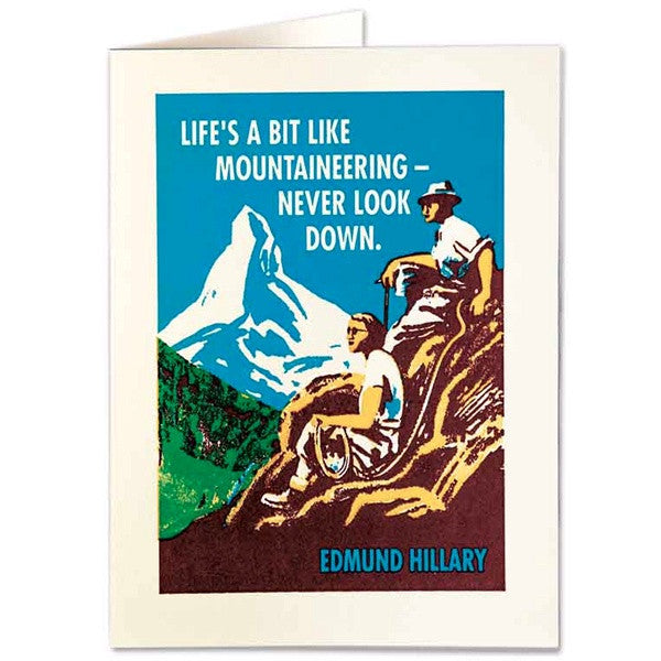 Life's a Bit Like Mountaineering Card