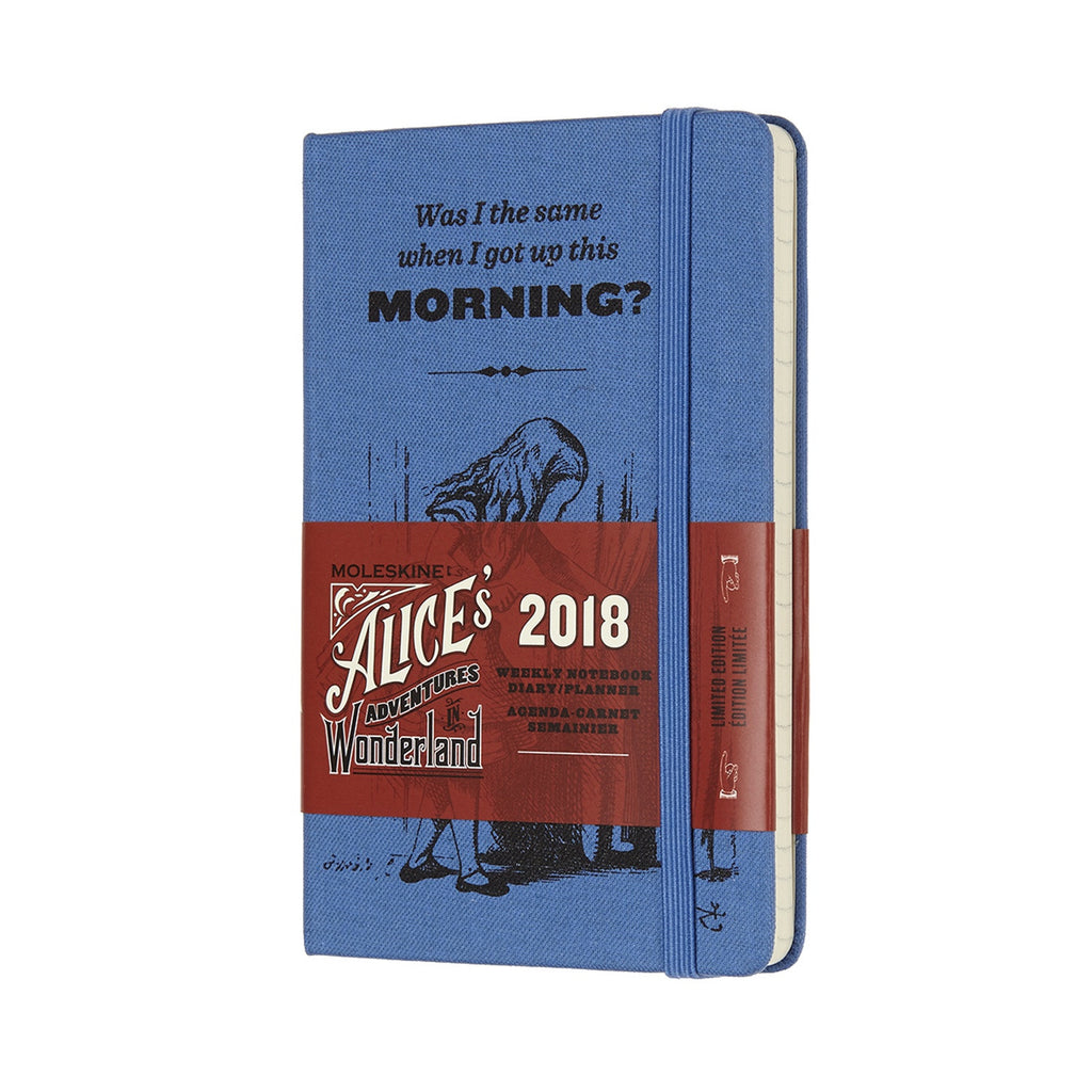 Moleskine 2018 Limited Edition Alice In Wonderland Weekly Pocket Diary