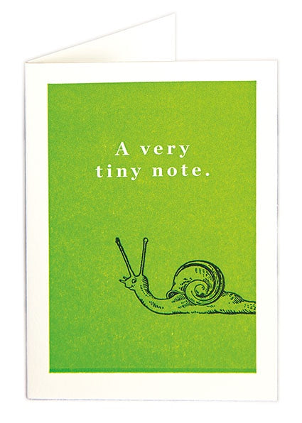 A Very Tiny Note Snail Pack of 5 Cards