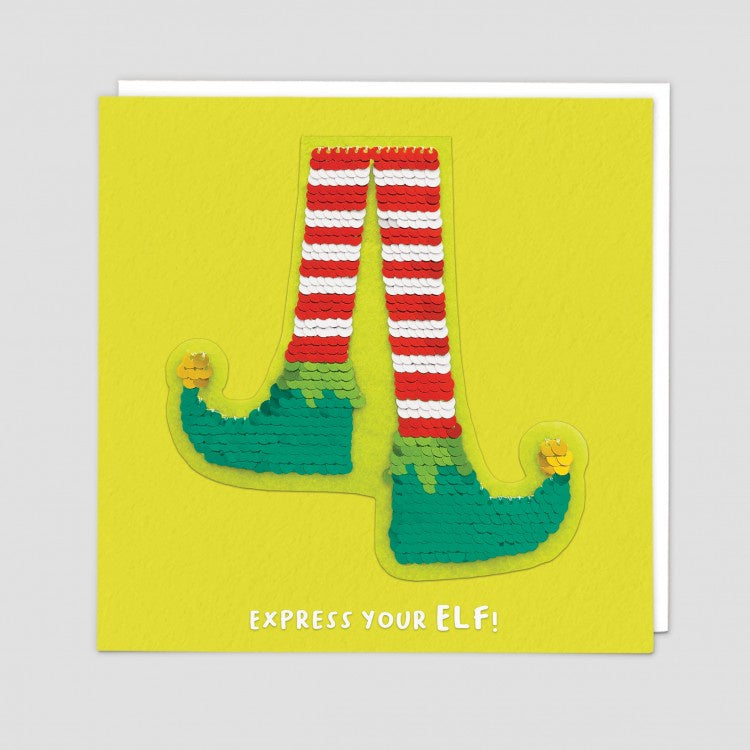 Express Your Elf Reversible Sequin Patch Card