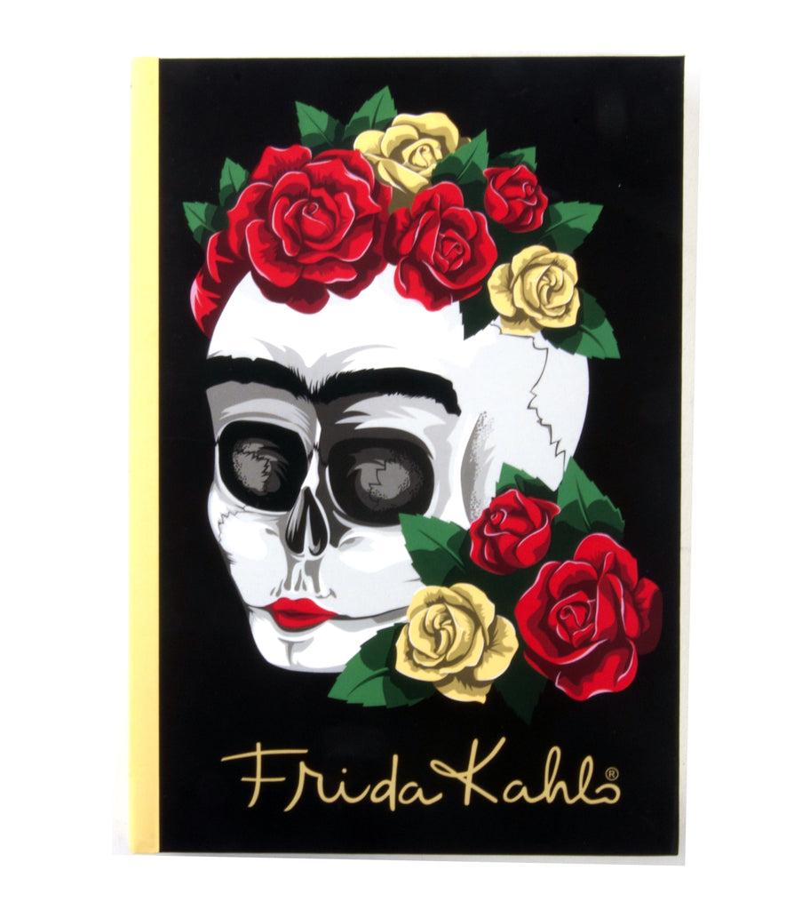 Frida Kahlo Floral Skull A6 Notebook