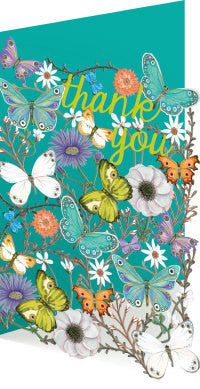 Butterfly Ball Lasercut Thank You Card
