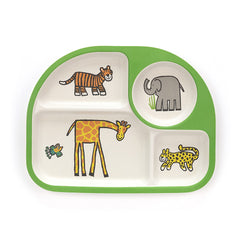 Jungly Tails Bamboo Divided Plate