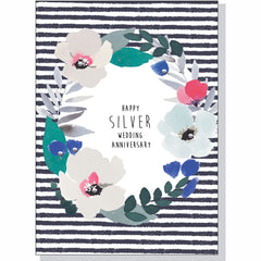 Anniversary Card - Silver Wedding