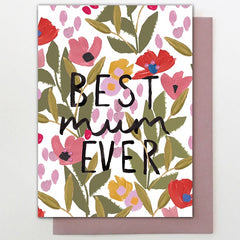 Best Mum Floral Card