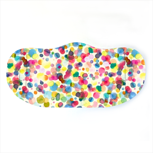 Watercolour Dots Face Mask