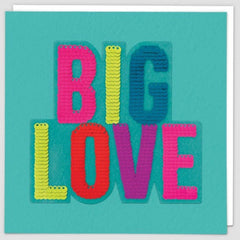 Big Love Sequin Patch Card