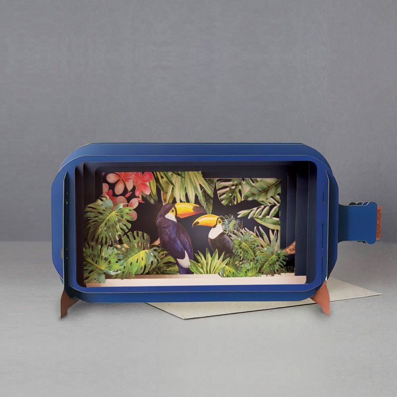 Toucans in the Jungle 3D Message in a Bottle Card