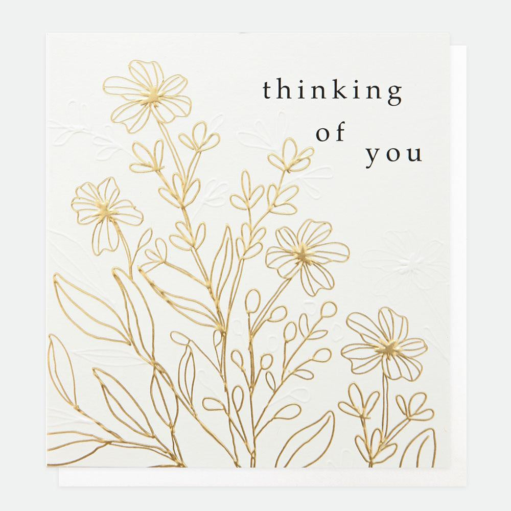 Gold Leaf Thinking Of You Card